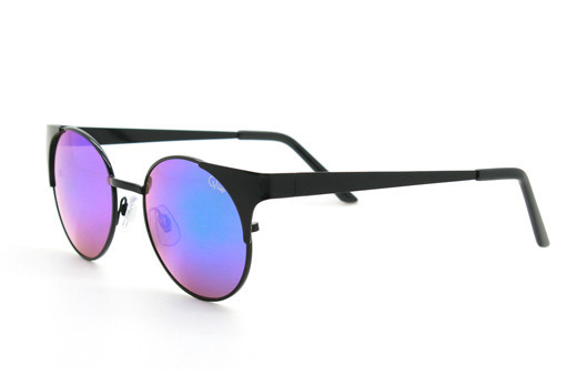 Quay - Asha Black Sunglasses, Blue Lenses
