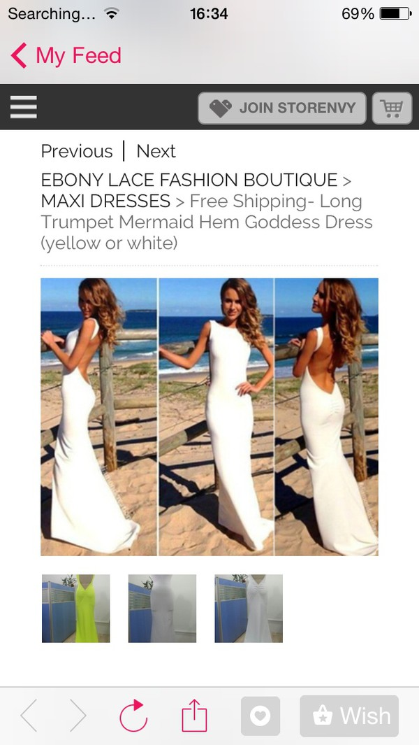 white dress low back dress