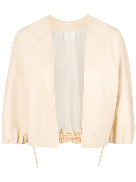 Lilly Sarti jacket open women leather nude