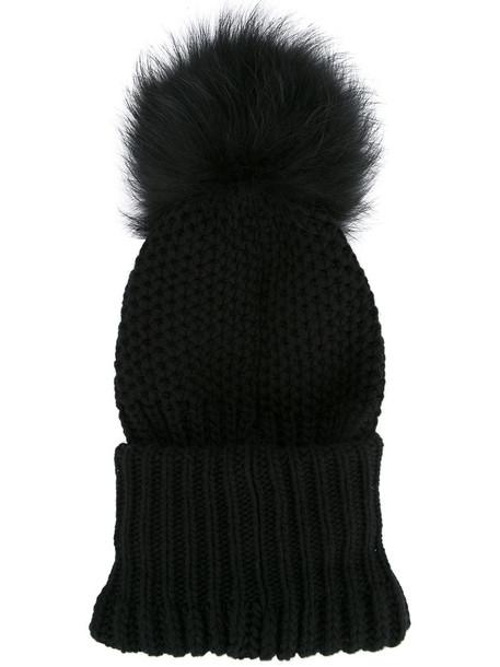 Inverni fur women beanie black hat