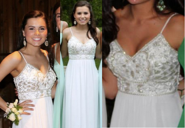 dress prom prom dress white dress long dress beaded ball gowns beaded dress spagetti straps
