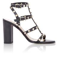 Valentino Rockstud Triple-Strap Sandals at Barneys.com