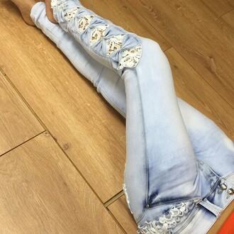 jeans lace blue jeans light blue jeans blue jeans lace jeans