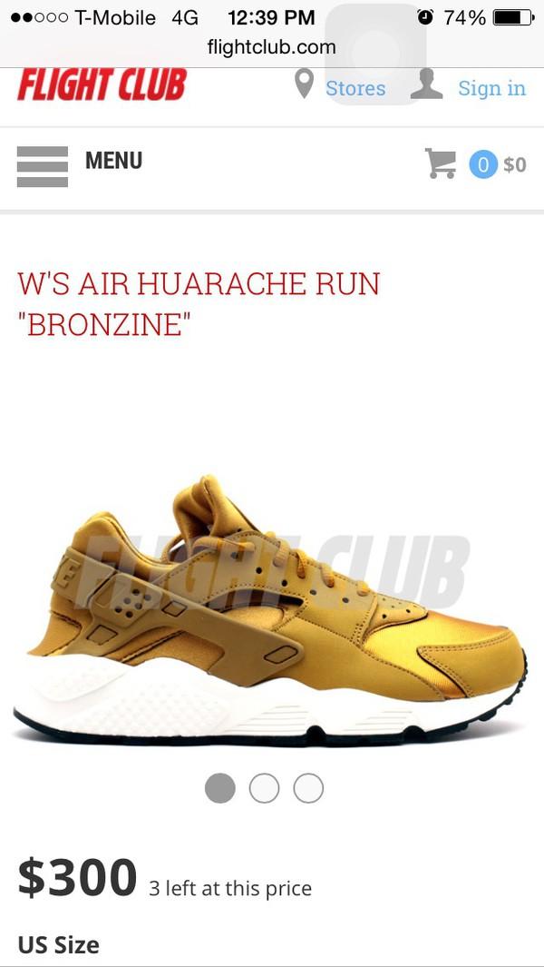 8b815730f171 Nike Air Huarache Bronzinebronzine-sail-black
