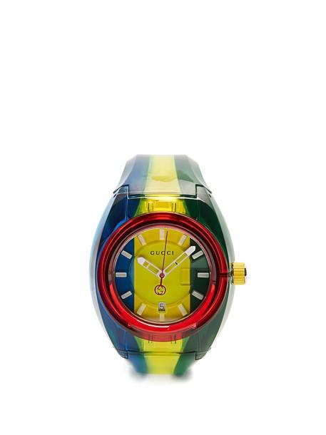 gucci watch green jewels