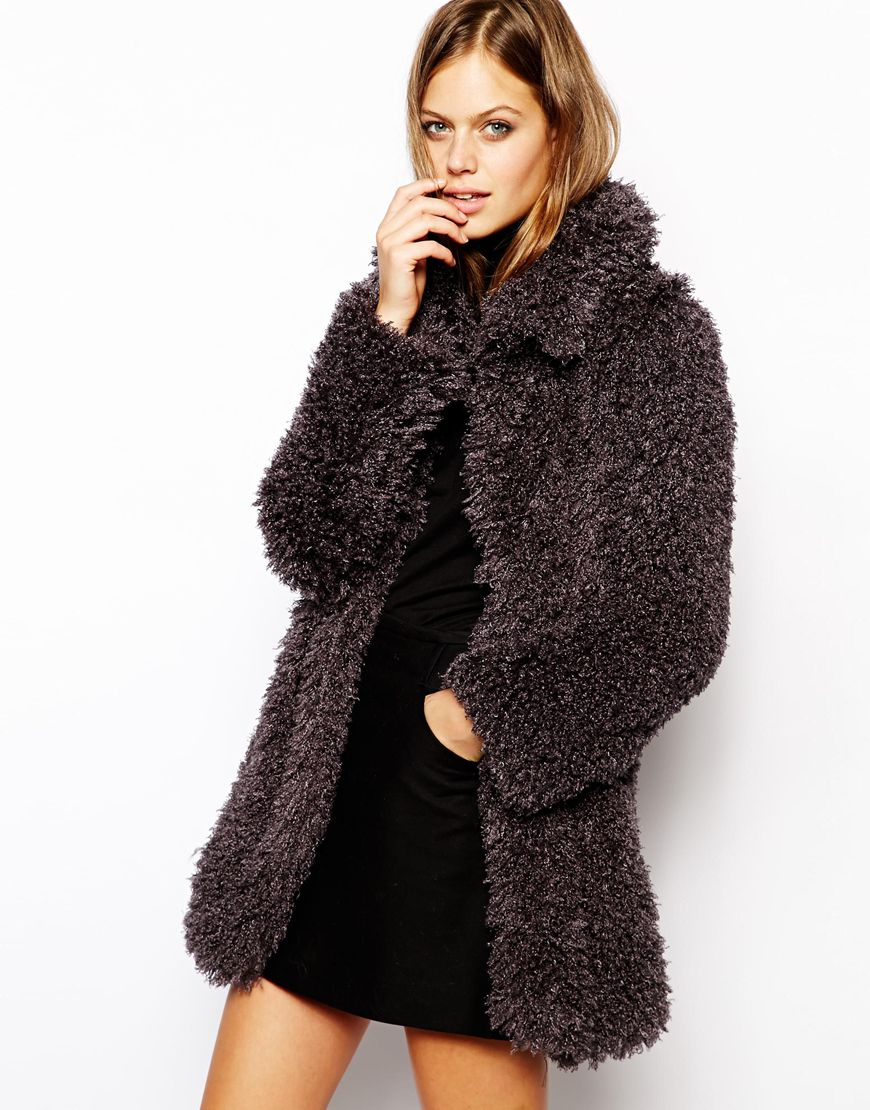 Fur coat at asos.com