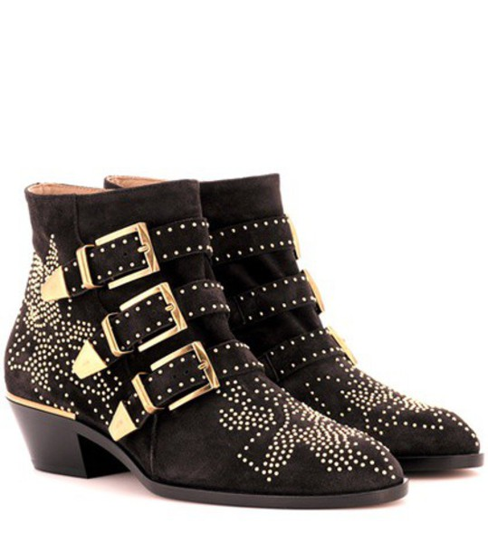 suede ankle boots studded ankle boots suede black shoes