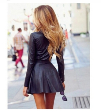 dress black dress black leather leather dress short dress
