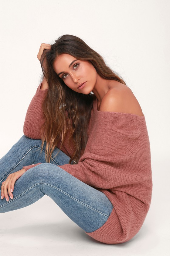 Emerson Mauve Dolman Sleeve Sweater