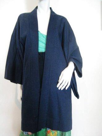 coat kimono kimonocoat jacket wool