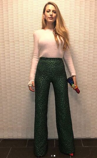pants sweater blake lively instagram