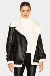 jacket,shearling jacket,winter jacket,black shearling jacket,fall jacket,acne studios