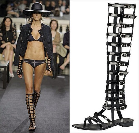 buckles shoes black brown gladiator sandals