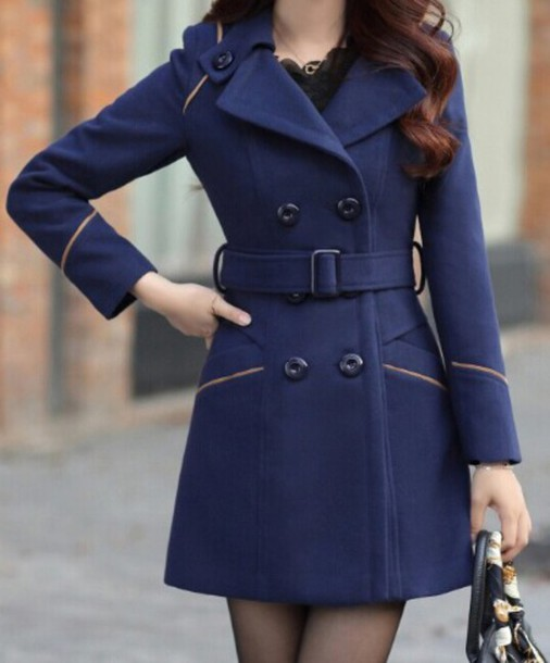 coat jacket navy