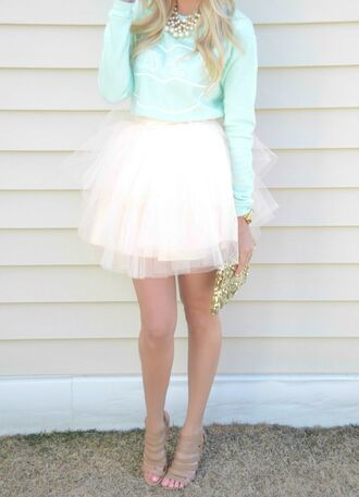 skirt tutu tulle skirt white tulle