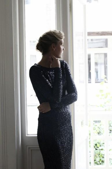 little black dress sequin dress by vh blogger