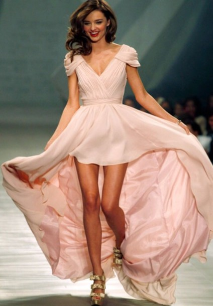 dress miranda kerr miranda kerr celebrity prom dress long prom dress prom dress pink dress high-low dresses