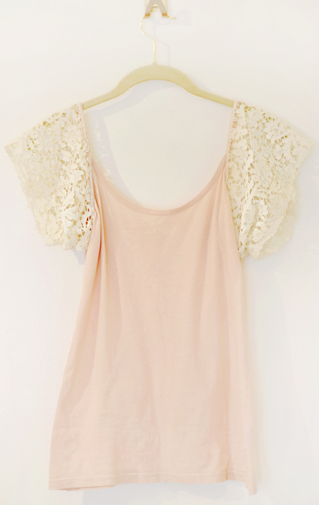 Easy DIY Lace Sleeve Tank Top | ...love Maegan