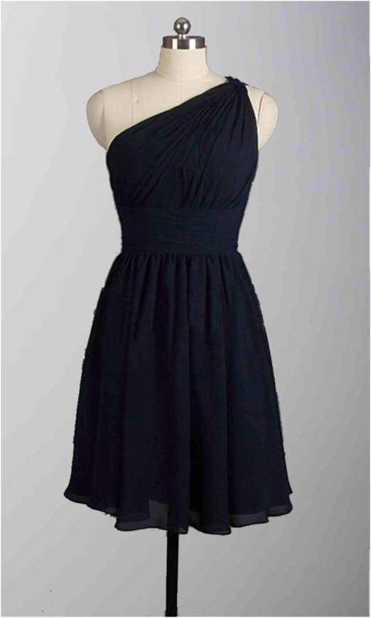 Affordable One Shoulder Black Short Bridesmaid Dresses KSP313 [KSP313] - £80.00 : Cheap Prom Dresses Uk, Bridesmaid Dresses, 2014 Prom & Evening Dresses, Look for cheap elegant prom dresses 2014, cocktail gowns, or dresses for special occasions? kissprom.co.uk offers various bridesmaid dresses, evening dress, free shipping to UK etc.