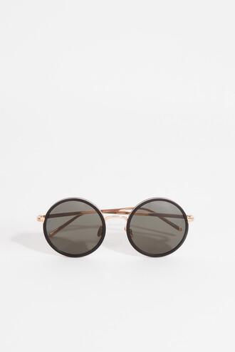 metal sunglasses round sunglasses black