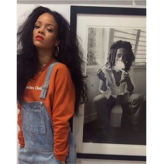 jumpsuit long sleeves t-shirt rhianna outfit rihanna grunge cute outfit style