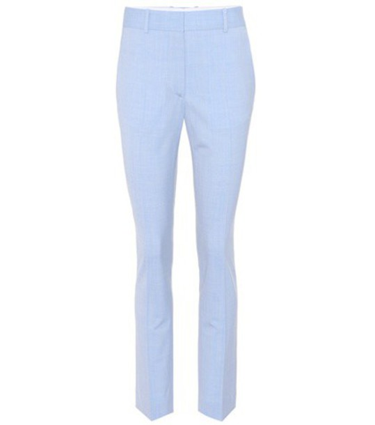 Victoria Beckham wool blue pants
