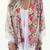 Lace Hem Splicing Floral Cardigan|Disheefashion