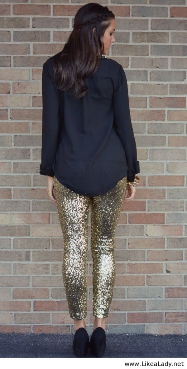 pants sequins leggings