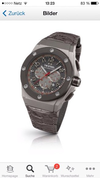 jewels watch grey male
