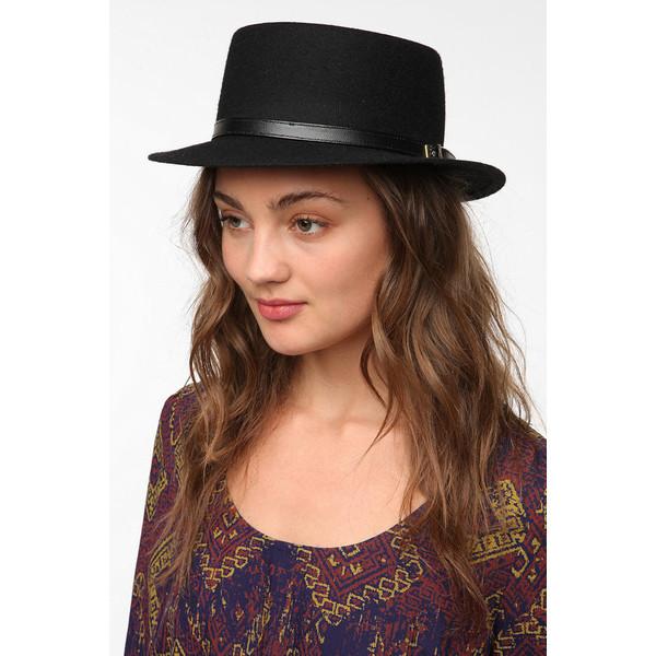 Deena & Ozzy Wool Boater Hat - Polyvore