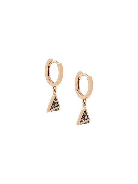 rose gold rose women earrings gold brown grey metallic jewels