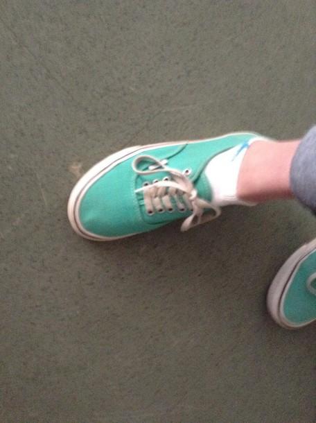 shoes blue/green vans