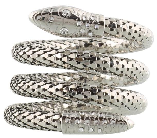 Giuseppe Zanotti snake anklet silver jewels