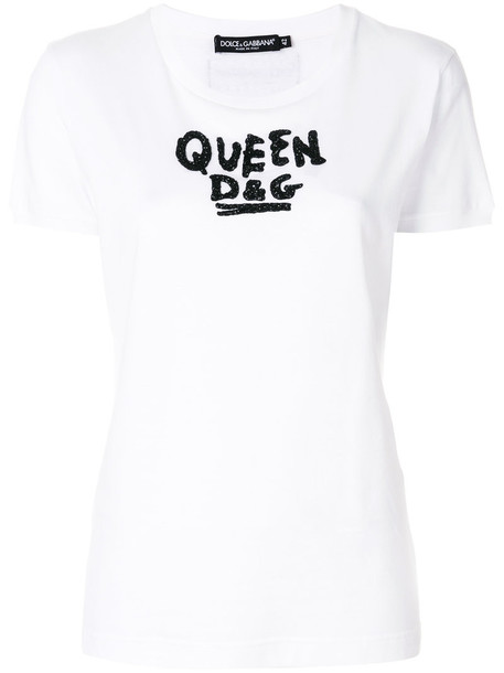 Dolce & Gabbana t-shirt shirt t-shirt women white cotton top