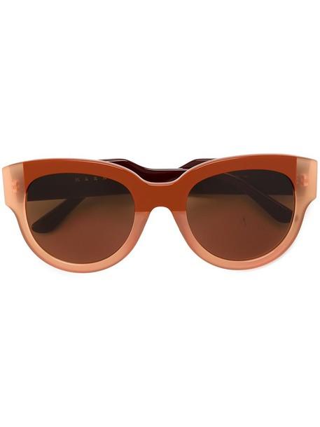 transparent women sunglasses brown