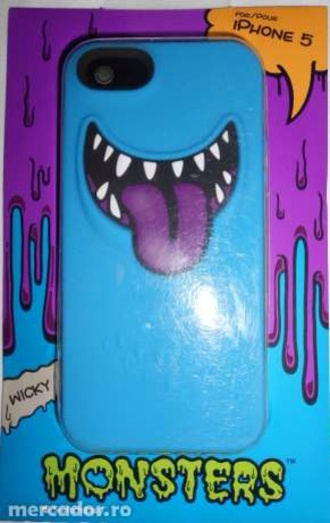 jewels iphone 5 case monsters monster purple blue iphone case