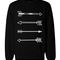 Tribal arrows graphic sweatshirts - unisex black sweatshirt