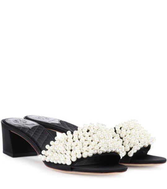 Tory Burch embellished sandals black shoes
