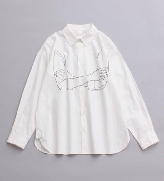 white white shirt cool print blouse black t-shirt mood tumblr outfit winter sweater teen choice awards