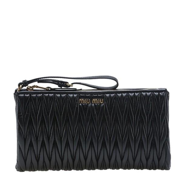 Miu Miu quilted bag clutch black
