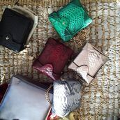 bag,manu atelier,crossbody bag,mini bag,metallic bag