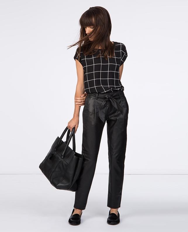 Pantalon en cuir. | Jeans et pantalons | Comptoir des Cotonniers