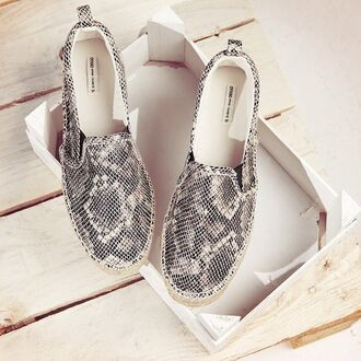 shoes glitter snakeskin designer gold black style fashion flats shoes