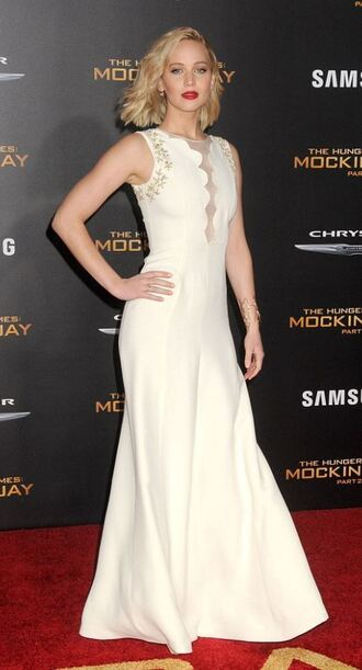 dress gown prom dress wedding dress jennifer lawrence red carpet dress the hunger games