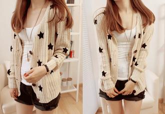 star stars sweater black beige cardigan clothes style classy