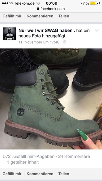 shoes timberlands khaki military style green