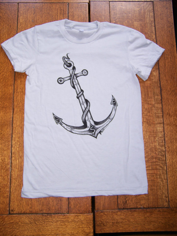 Firewater guys n gals anchor tee shirt by firewaterclothing