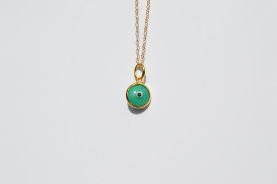 Evil Eye Necklace Evil Eye Jewelry Evil eye Charm by Solajewelry