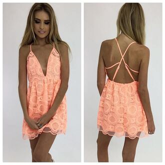 dress coral coral dress peach dress peppermayo