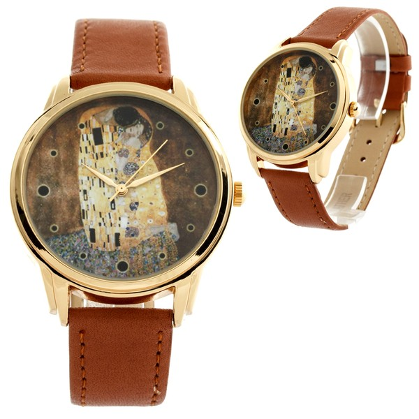 jewels watch watch brown art kiss ziz watch ziziztime